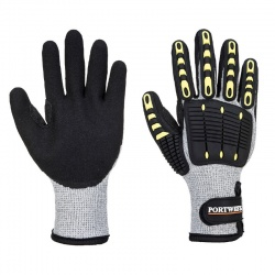 Portwest A729 Grey and Black Anti-Impact Cut Resistant Thermal Work Gloves