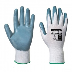 Portwest Grey and White Nitrile Flexo Grip Gloves A310GRW
