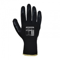 Portwest Black Latex Grip Gloves A100K8