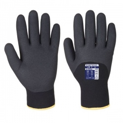 Portwest Nitrile Dipped Winter Black Gloves A146BK