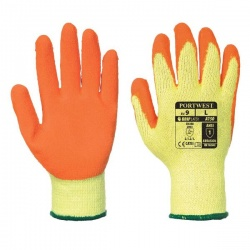 Portwest Orange Latex Grip Gloves A150OR