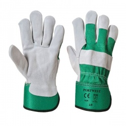 Portwest Premium Chrome Rigger Green Gloves A220