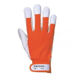 Portwest Tergsus Leather Orange Gloves A250OR