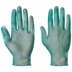 Supertouch Green Disposable Powdered Vinyl Gloves 1103