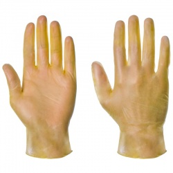 Supertouch Yellow Disposable Powdered Vinyl Gloves 1104