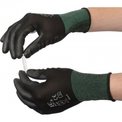 PU-Coated Delicate Handling PCP-B Black Gloves