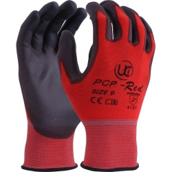 PU-Coated Delicate Handling PCP-Red Gloves