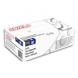 Shield GD76 Clear Powder-Free Polysynthetic Disposable Gloves (Pack of 250)