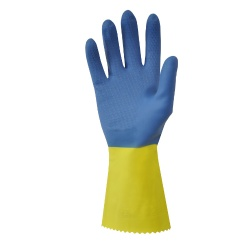 Shield GI/500 Bi-Colour Rubber and Chloroprene Industrial Gloves