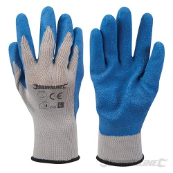 Silverline Latex Coated Builders Gloves