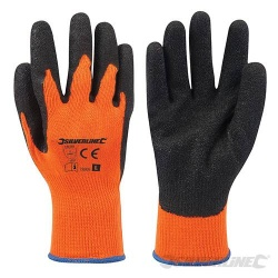 Silverline Orange Hi-Vis Builders Gloves