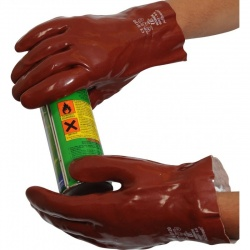 Standard Chemical-Resistant 11'' R227 PVC Gauntlet Gloves