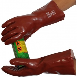 Standard Chemical-Resistant 14'' R235 PVC Gauntlet Gloves