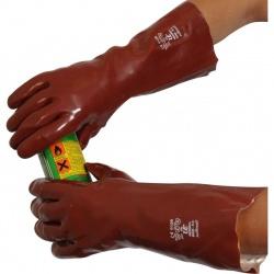 Standard Chemical-Resistant 16'' R240 PVC Gauntlet Gloves