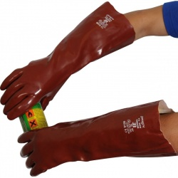 Standard Chemical-Resistant 18'' R245 PVC Gauntlet Gloves