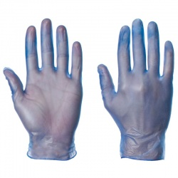 Supertouch Blue Disposable Powdered Vinyl Gloves 1101