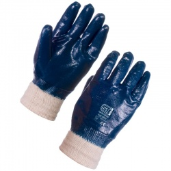 Supertouch 2207 Nitrile Heavyweight Full Dip Knit Wrist Gloves