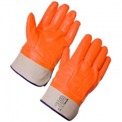 Supertouch 23463 Thermal PVC Hi-Viz Safety Cuff Gloves