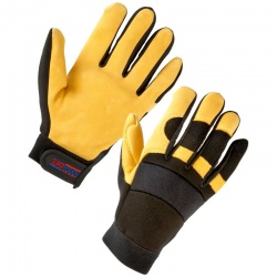 Supertouch 2434 Leather Mechanic Gloves