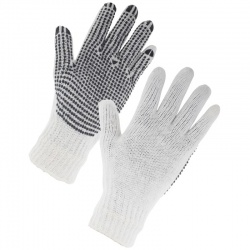 Supertouch 2657 Seamless Mixed Fibre PVC Dot Palm Gloves (Pack of 240 Pairs)