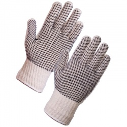 Supertouch 2667 Seamless Mixed Fibre PVC Dot Palm/Back Gloves