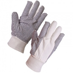 Supertouch 8oz Cotton Drill Polka Dot Gloves