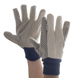Supertouch 12oz Cotton Drill Polka Dot Gloves