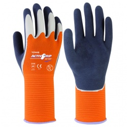 Towa ActivGrip Latex Coated Hi-Vis Liquid Resistant XA-325 Gloves