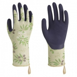 WithGarden Luminus 369 Premium Latex Olive Patterned Gardening Gloves