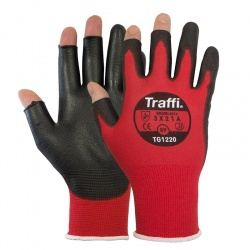 TraffiGlove Metric Exposed Fingers Cut Level A Gloves TG1220