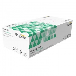 Unigloves Unicare Latex Powdered Examination Gloves GS002