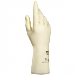 Mapa Vital 175 Chemical-Resistant Blonde Latex Gauntlet Gloves