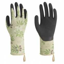 WithGarden Luminus 508 Premium Nitrile Olive Patterned Gardening Gloves