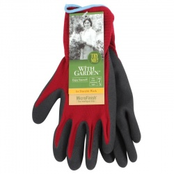 WithGarden Soft and Care Landscape 595 Nitrile Burgundy Gardening Gloves