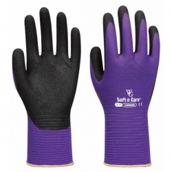 WithGarden Soft and Care Landscape 598 Nitrile Purple Gardening Gloves