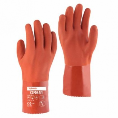 Towa 30cm PVC Coated Oil Resistant OR651 Gloves