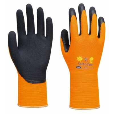 WithGarden Soft and Care Flora 318 Sunshine Orange Gardening Gloves