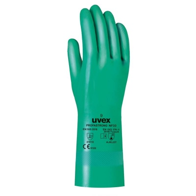 Uvex Profastrong Chemical Nitrile-Coated Gloves NF33