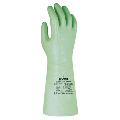 Uvex Rubiflex S NB35S 35cm Reinforced Chemical-Resistant Gloves