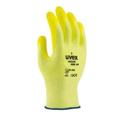 Uvex Unidur Oil-Resistant Hi-Vis Grip Gloves 6655