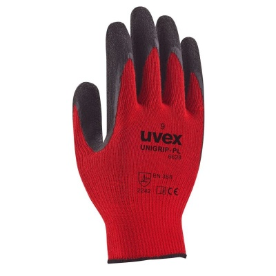 Uvex Unigrip PL 6628 Red Latex Coated Safety Gloves