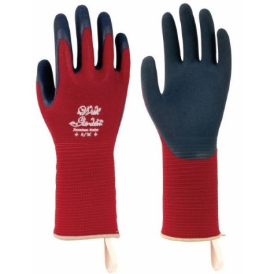 WithGarden Foresta 393 Premium Latex Burgundy Gardening Gloves