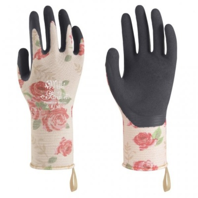 WithGarden Luminus 506 Premium Nitrile Rose Patterned Gardening Gloves