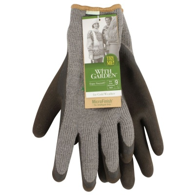 WithGarden Soft and Tough Thermal 376 Ash Grey Gardening Gloves