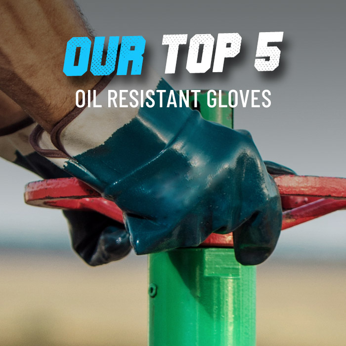 Oil resistant work gloves